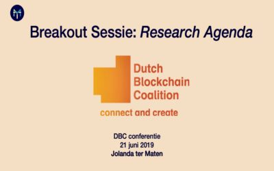 Dutch Blockchain Coalition – Conference